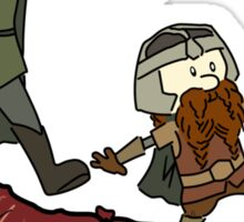 Calvin And Hobbes Lord of The Rings Sticker