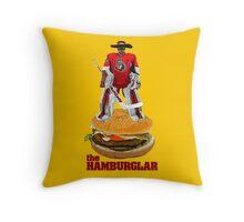 Ham-burglar Throw Pillow