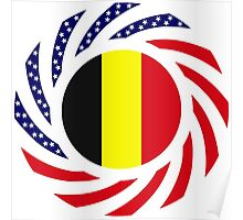 Belgian American Multinational Patriot Flag Series Poster