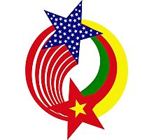 Cameroon American Multinational Patriot Flag Series Photographic Print