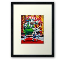 Silly Fat Cow and a Two-faced B***h Framed Print
