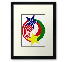Burkina Faso American Multinational Patriot Flag 2.0 Framed Print