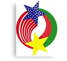 Burkina Faso American Multinational Patriot Flag 2.0 Metal Print