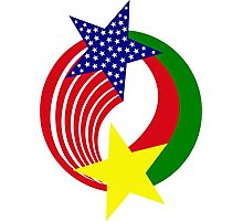Burkina Faso American Multinational Patriot Flag 2.0 Photographic Print