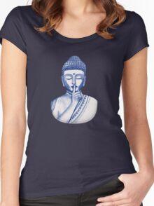 Shh ... do not disturb - Buddha  Women's Fitted Scoop T-Shirt