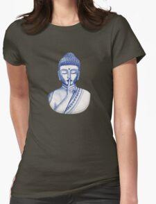 Shh ... do not disturb - Buddha  Womens Fitted T-Shirt