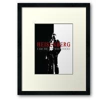 """""""Heisenber"""" Breaking Bad & Scarface Poster Mashup Framed Print"""
