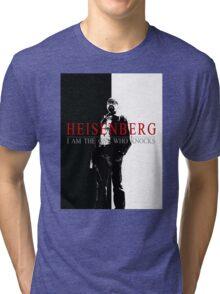"""Heisenber"" Breaking Bad & Scarface Poster Mashup Tri-blend T-Shirt"
