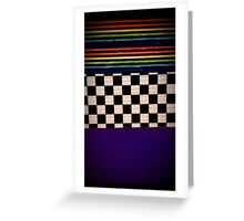 checkers and stripes Greeting Card