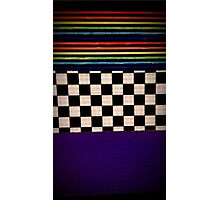 checkers and stripes Photographic Print