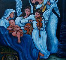 Blue nativity by flovie