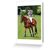 Polo Umpire Greeting Card