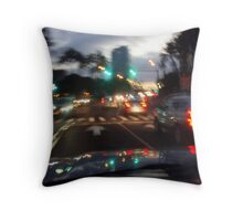 Night life on the Island of Oahu Throw Pillow