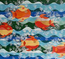 Five Fiery Fish by jeuneart