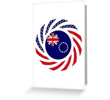 Cook Islands American Multinational Patriot Flag Series Greeting Card