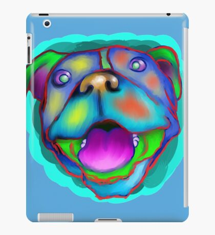 acrylic happy pit bull iPad Case/Skin