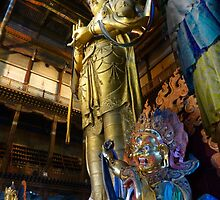 Inside Gandantegchenling Monastery, Ulaanbaatar, Mongolia by Robert La Bua