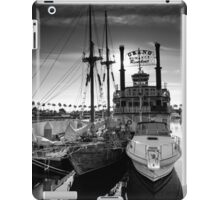 Yacht At The Pier On A Sunny Day iPad Case/Skin