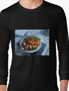 Spring Lamb and Vegetables Long Sleeve T-Shirt