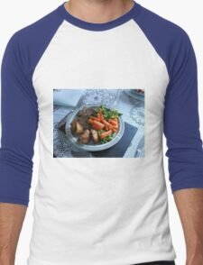 Spring Lamb and Vegetables Men's Baseball ¾ T-Shirt