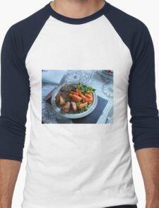 Spring Lamb and Vegetables Men's Baseball ¾ T-Shirt