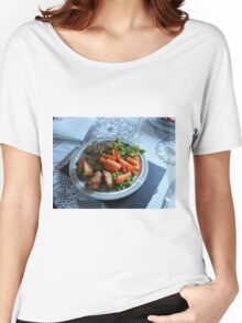 Spring Lamb and Vegetables Women's Relaxed Fit T-Shirt
