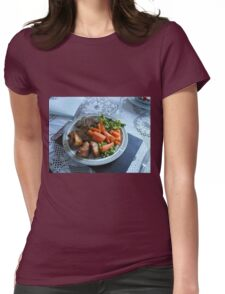 Spring Lamb and Vegetables Womens Fitted T-Shirt