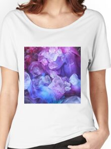 Purple, blue and pink ice dye Women's Relaxed Fit T-Shirt