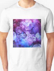 Purple, blue and pink ice dye T-Shirt