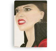 The Evil Queen portrait Canvas Print