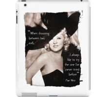 Mae West - Try the evil I've never tried before (Amazing People) iPad Case/Skin
