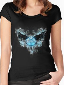 Supernatural Ghostly Angel  Women's Fitted Scoop T-Shirt