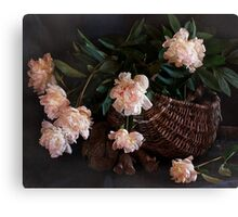 This Still Life with Peonies Canvas Print