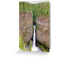 Wells Gray Waterfall Greeting Card