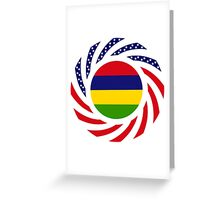 Mauritius American Multinational Patriot Flag Series Greeting Card