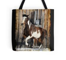 Pinto Horse on the Run Tote Bag