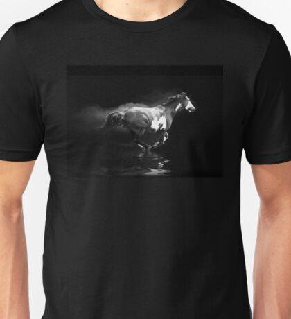 Galloping Pinto Horse and Smoke Unisex T-Shirt