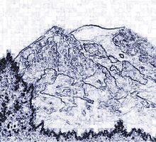 Mt. Rainier Drawing by Jonice