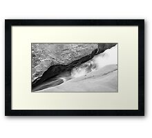 Washed Sandstone  Framed Print