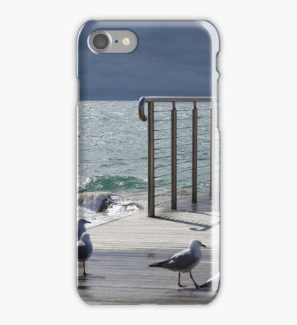 the light!  at Burnie beach, with silver gulls iPhone Case/Skin