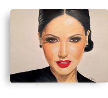 Portrait of Lana Parrilla Canvas Print