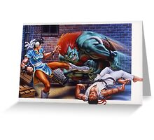 Street Fighter 2 SNES Greeting Card