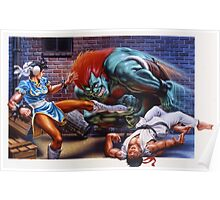 Street Fighter 2 SNES Poster
