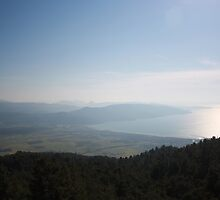 Cool Blue Sky and Green Plains of Gokova from Sakartepe  by taiche