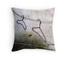 Hanger Grafitti Throw Pillow