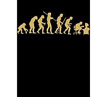 Evolution Ape To Geek Photographic Print