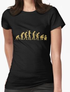Evolution Ape To Geek Womens Fitted T-Shirt