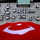 Turkish Flag Hanging From Pera Palace Hotel, Istanbul, Turkey by Robert La Bua