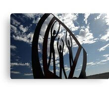 Tourist sign in Menzies Metal Print