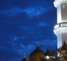 Kapitan Keling Mosque At Dusk, George Town, Malaysia Sticker